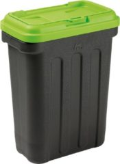 Maelson Dry Box Voedselcontainer Zwart/Groen - 20 kg