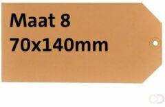 Label hf2 nr8 70 x 140 mm karton 200 gr chamois 1000 stuks