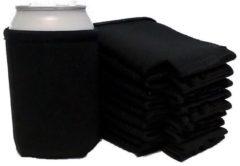 Koozie.eu 10 x bier - frisdrank blik koelhoud hoesje in zwart |bierblik hoesjes | Festival | Vakantie | Strand | Carnaval