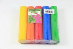 5x Gekleurde fantasie klei rollen 100 gram creatief speelgoed voor kinderen - Creatief speelgoed - Knutselen - Knutselmateriaal - Kleien