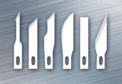 Zilveren Reservemesjes scalpel Westcott - 6 verschillende mesjes voor