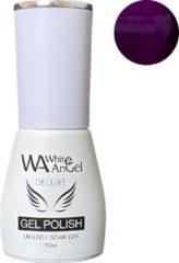 Paarse Gellex White Angel Gellex Deluxe Gel Polish, gellak, gel nagellak, shellac - Blackberry 106
