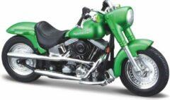 Harley-Davidson Harley Davidson FLSTF Street Stalker (Groen) 1/18 Maisto - Modelmotor - Schaal model - Model motor - harley davidson schaalmodel