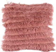 Present Time Sierkussens Cushion Jazz faux fur Roze