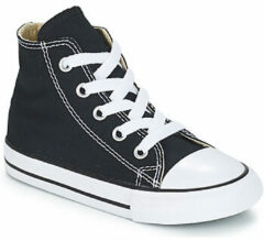 Zwarte Converse Toddlers' Chuck Taylor All Star Hi-Top Trainers - Black - UK 10 Toddler - Black