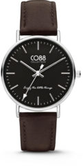 CO88 Collection Watches 8CW 10006 Horloge - Leren Band - Ø 36 mm - Bruin