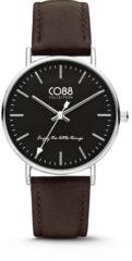 CO88 Collection Watches 8CW 10006 Horloge - Leren Band - Ø 36 mm - Bruin
