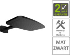 Boss & Wessing BWS Hoofddouche Met Waterval En Douchearm 40.4x25.4 cm Mat Zwart