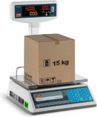 TEM Weegschaal met prijsberekening met leddisplay op statief - 6 kg/2 g - 15 kg/5 g