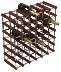 Bruine RTA - Traditional wine rack 42 bottles dark wood