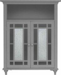 Elegant Home Fashions Badkamer Windsor dubbele deur vrijstaande kast grijs EHF-529G