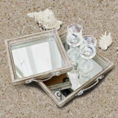 LOBERON Dienblad set van 2 Tess grijs/zilverkleurig