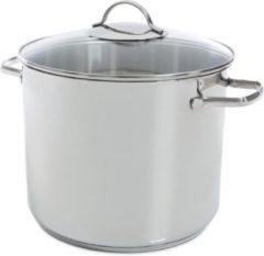 Zilveren BK soeppan - met glasdeksel - ø 26 cm - 11 liter
