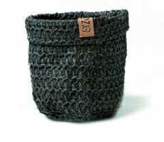 SIZO Knitted Paper Bag zwart Ø 25 cm