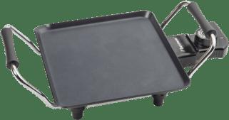 Afbeelding van Zwarte Bestron Plancha tafelgrill 1000 W 21x21 cm ABP600