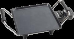 Zwarte Bestron Plancha tafelgrill 1000 W 21x21 cm ABP600