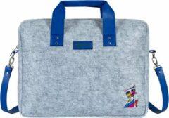 Blauwe BiggDesign Owl City - Laptoptas - Laptop Case - Hoesje - Notebooktas - Vilt