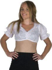 Witte Party Pakjes Korte Oktoberfest blouse voor onder een dirndl - Beiers bloesje maat 34/36