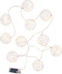 BUTLERS ATMOSPHERE Lichterkette Glitzerkugel 10 Lichter