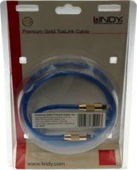Lindy Premium Gold TosLink Kabel, optisches SPDIF-Premium-Kabel, 1 m
