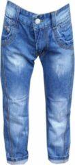 Blauwe Merkloos / Sans marque Jongens jeans Maat:110/116