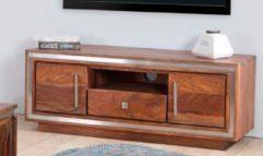 THE WOOD TIMES TV - Lowboard «Sheva», mit 2 Holztüren und 1 Schublade, Breite 118 cm