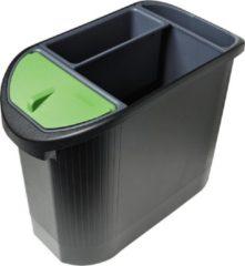 Antraciet-grijze Exacompta Ecologische papiermand, Zwart/antraciet