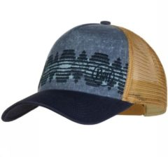 Blauwe BUFF® Trucker Cap Tzom Stone Blue - Pet - Zonbescherming
