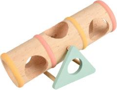 Flamingo Knaagdierenspeelgoed Wip-Wap Buis - Speelgoed - 16.5x7x9 cm Multi-Color
