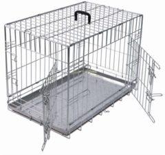 Pet Products Draadkooi Bench 2 Deurs De Luxe - Verzinkt - 62 x 44 x 50 cm - Adori