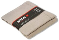 KOOK Damast tafelkleed - 140x230 cm - gemeleerd beige