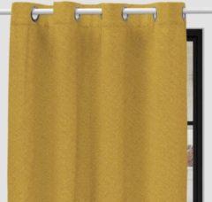 SOLEIL d'OCRE Verduisterend gordijn met oogjes - 135 x 250 cm - Mosterdgeel