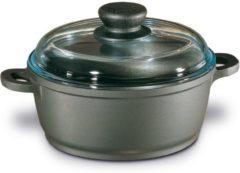 Grijze Berndes Kookpan - Bonanza - Essenhouten Steel - Incl Glazen Deksel - 20 cm - Grijs