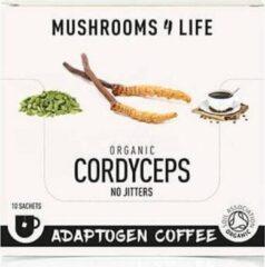 Mushrooms4Life Cordyceps Adaptogen Koffie - 10 zakjes