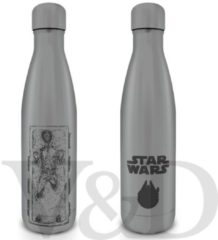 Grijze Hole In The Wall Star Wars Han Solo Carbonite Metalen Drinkfles
