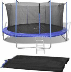 VidaXL Veiligheidsnet voor 3.66 m ronde trampoline PE zwart