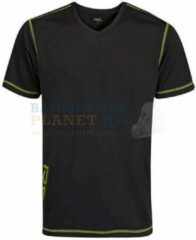 RSL T-shirt Badminton Tennis Zwart/Lime maat XL