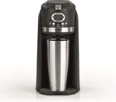 Zilveren BEEM Koffiezetapparaat, Grind & Brew 2 Go Incl. Thermosbeker 0,4L – bonenmaler, koffiemachine, filterkoffie