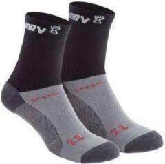 Inov-8 - Speed Sock High - Hardloopsokken maat M, zwart/grijs