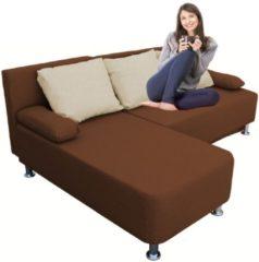 Ecksofa Bettsofa Schlafsofa Couch mit Schlaffunktion 'Magota Braun' 81 x 203 x 78 cm VCM Braun