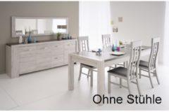 Esstisch mit Sideboard und Spiegel 'Malone 14' Portofino-Grey Parisot Portofino Grey / Steinoptik