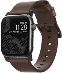 Nomad Modern Apple Watch bandje 38mm / 40mm - Bruin met zwarte gesp