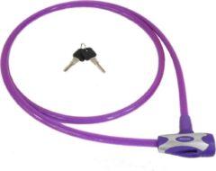 Stahlex Ø12mm / 180cm 450g Fietsslot Kabelslot extra lange uitvoering moi veilig en duurzaam paars