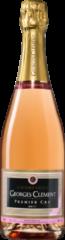 Donkerrode Wijnvoordeel Georges Clément Champagne AC 1er Cru Brut Rosé