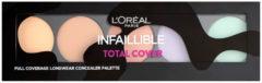 L'Oréal Paris L'oréal Make-up Designer Infaillible Total Cover Concealer Palette - Universeel - Concealer Palet (Ex)
