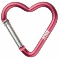 LACD - Accessory Carabiner Heart Small - Materiaalkarabiner maat small roze/grijs