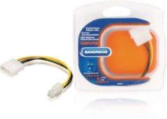 Witte Bandridge BCL9740 Intern 0.15m Molex (4-pin) Multi kleuren electriciteitssnoer