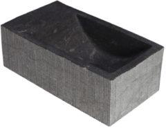 Antraciet-grijze Forzalaqua Kalmar XS Hardsteen Gefrijnd Zonder Kraangat Links 29X16X10 cm