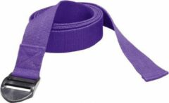 Trendy Sport Yoga riem - Yogariem - Yoga belt - 190 cm lang - 4 cm breed - 2 mm dik - Paars