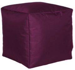 Sitzwürfel Hocker Sitzkissen Nylon aubergine 40x40x40 cm Linke Licardo Aubergine
